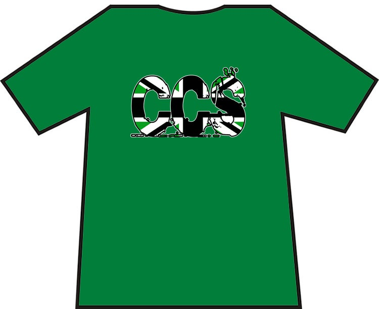 Image of Hibs, Hibernian, CCS British Writing, Capital City Service, Casuals, Football Hooligans T-shirt