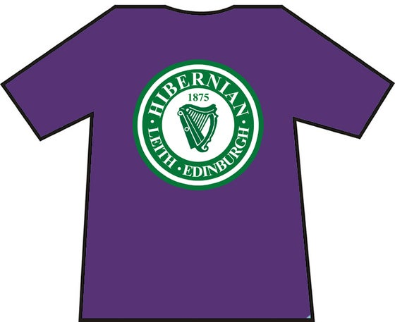 Image of Hibs, Hibernian, Leith, Edinburgh, Harp T-shirts.