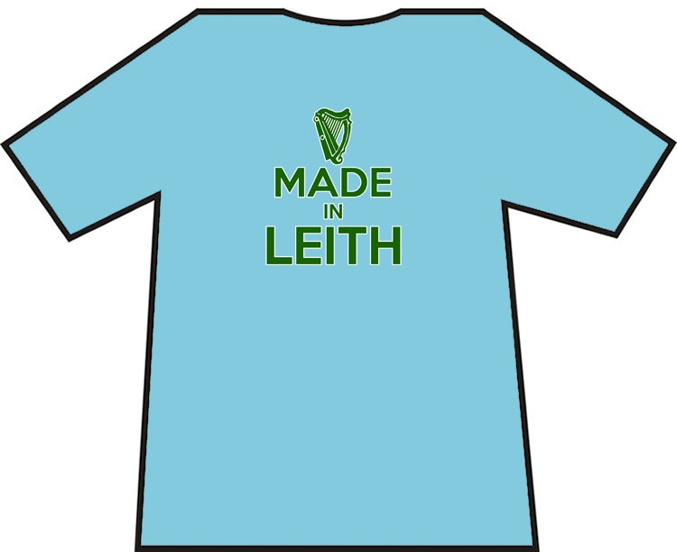 Image of Hibs, Hibernian, Made In Leith T-Shirts.