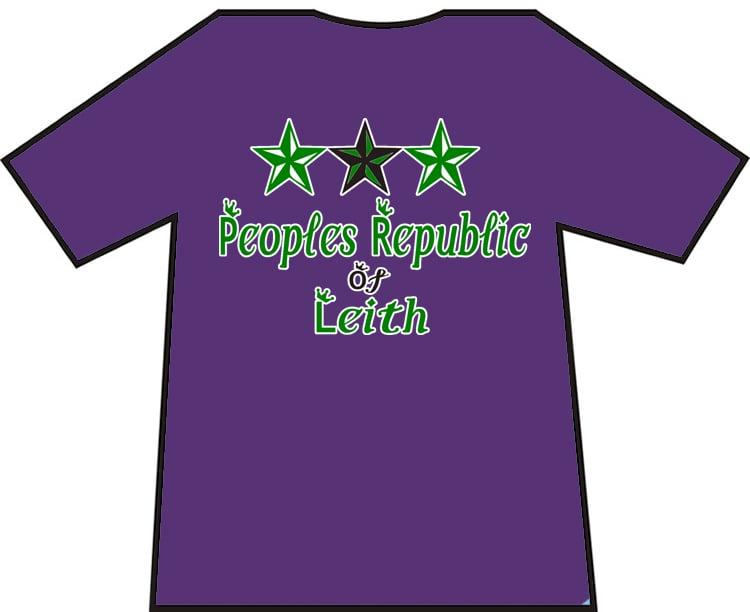 Image of Hibs, Hibernian, Peoples Republic Of Leith T-shirts.