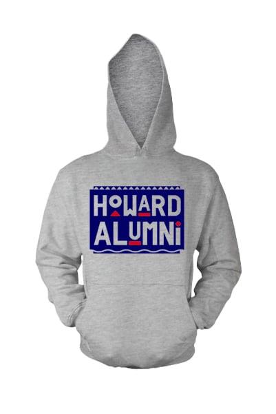 Image of Vintage HU - Grey & Blue (Hoodie)