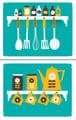 Image Of Kitchen Art Print Set Coffee E Rack Prints