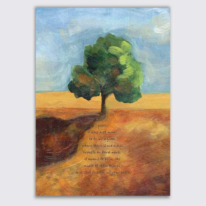 Image of peace tree: print