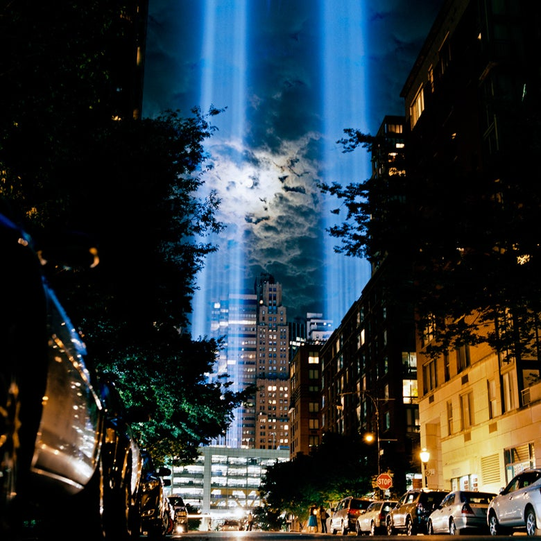Image of Tribute in Light - 11/09/11 #2 <br> 30 x 30 cm