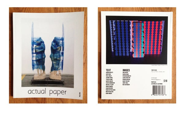 Image of actual paper | Fall 2014