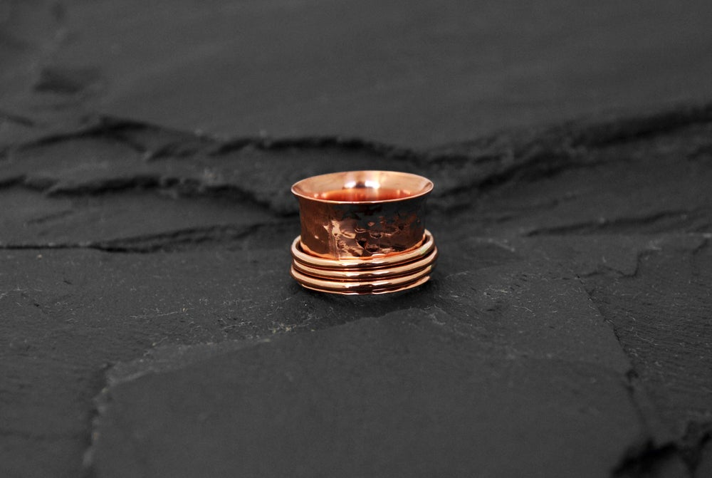 Image of Stressring with 3 rings in copper