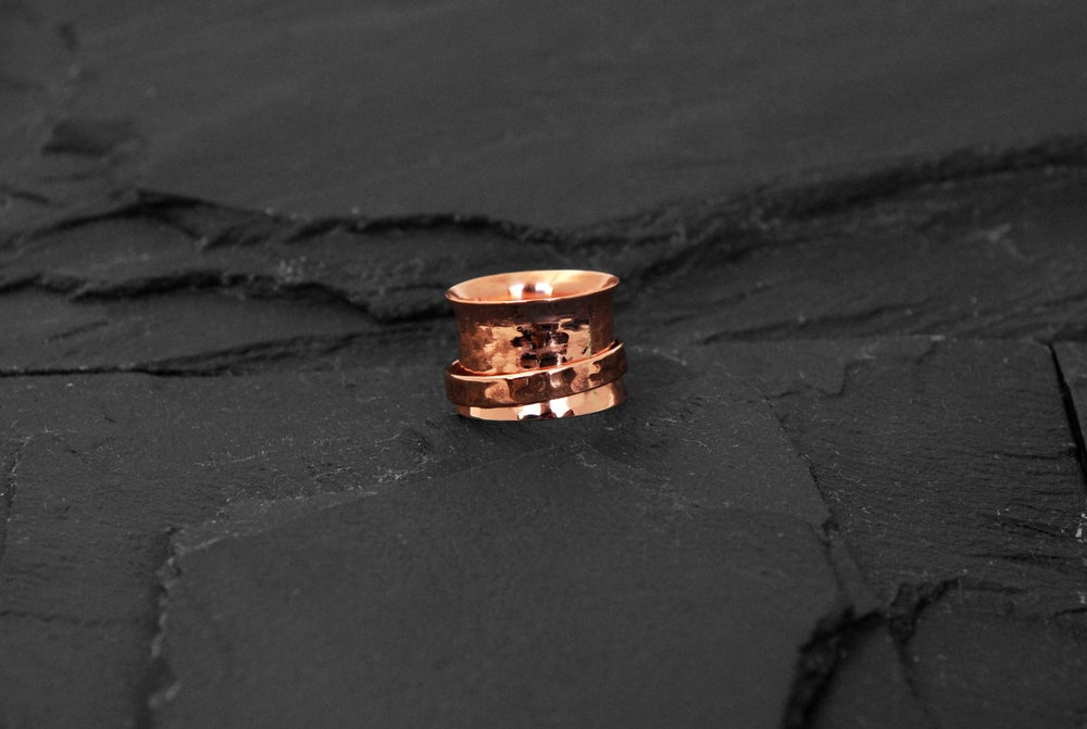 Image of Stressring with band in copper