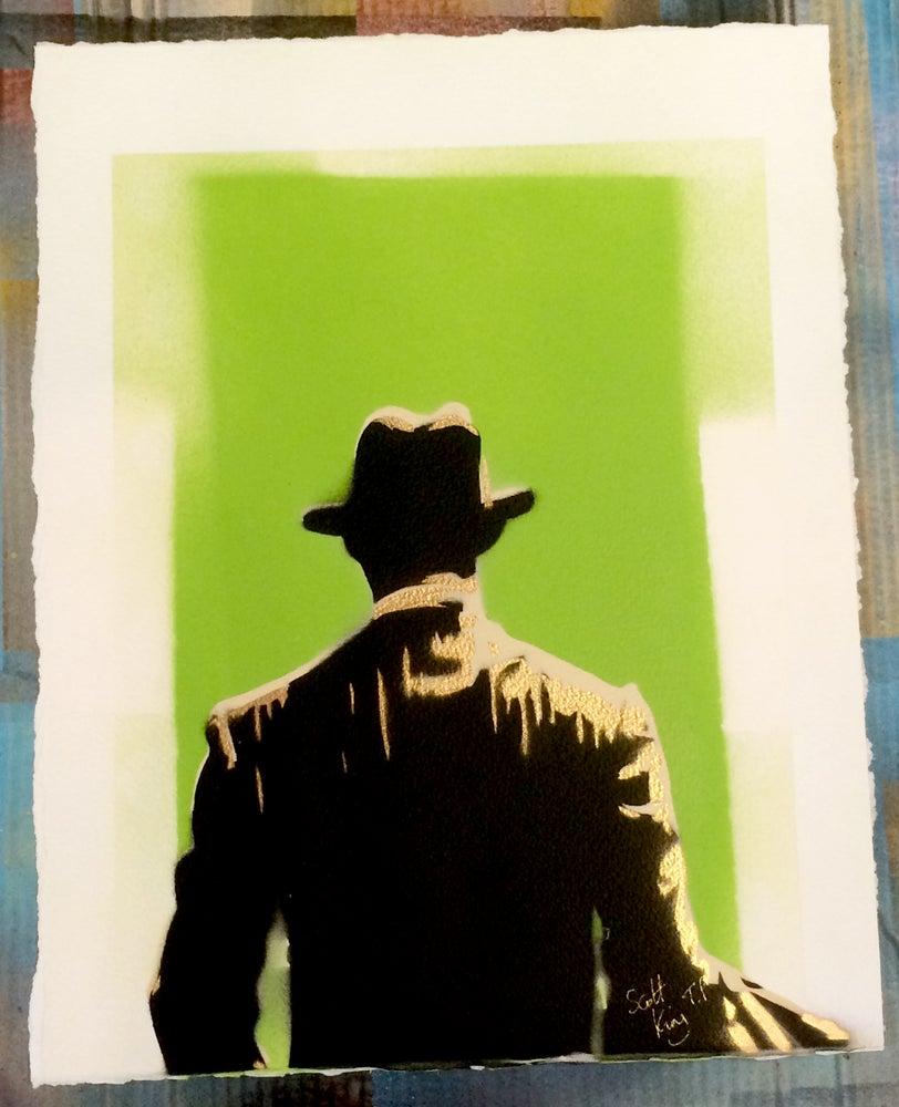 Image of WALK AWAY Test Print Green by Scot King
