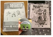 Image of 2nd Hand Zine - issue 1 & 2 + badge bumper pack!