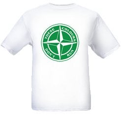 Image of Hibs/Celtic These Colours Don't Run Green & White Star Design T-Shirt.