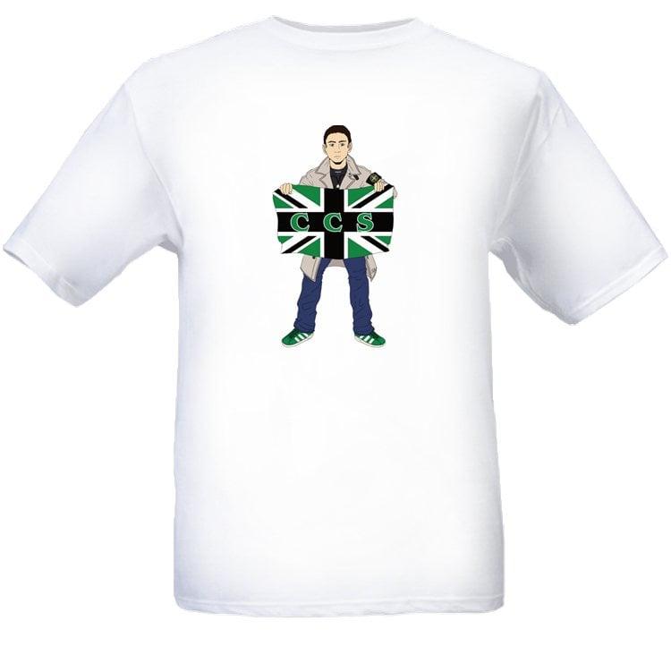 Hibs, Hibernian, CCS, Capital City Service, Casual with flag, Football Hooligans T-shirt