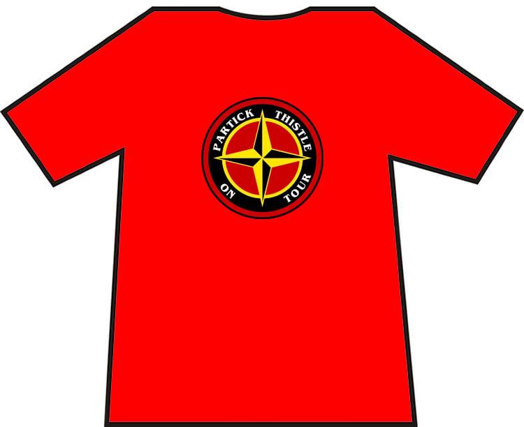 Image of Partick Thistle On Tour T-shirt.