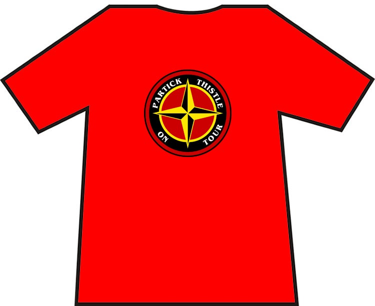 Partick Thistle On Tour T-shirt.