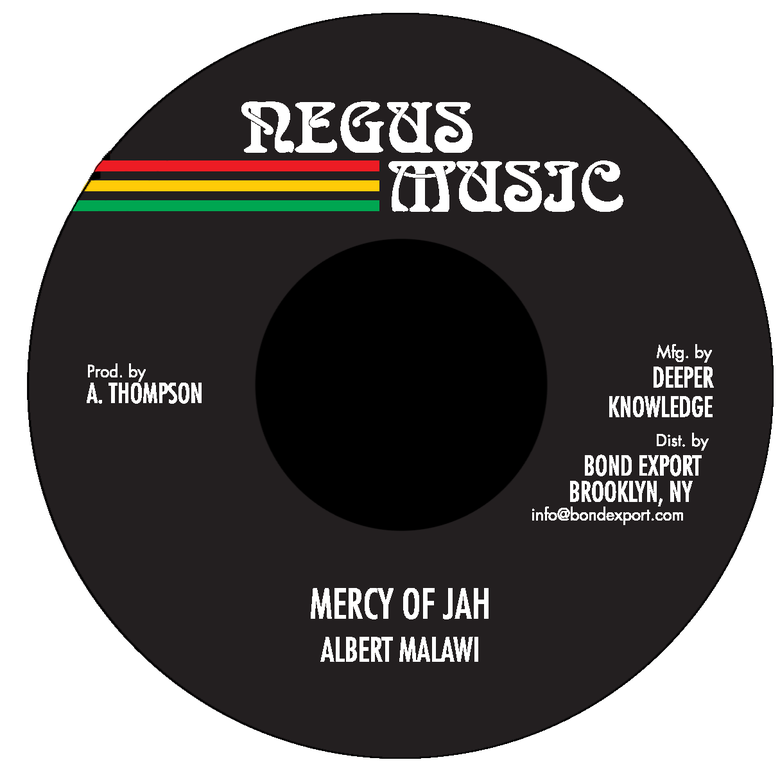 "Image of Albert Malawi - Mercy of Jah 7"" (Negus Music)"