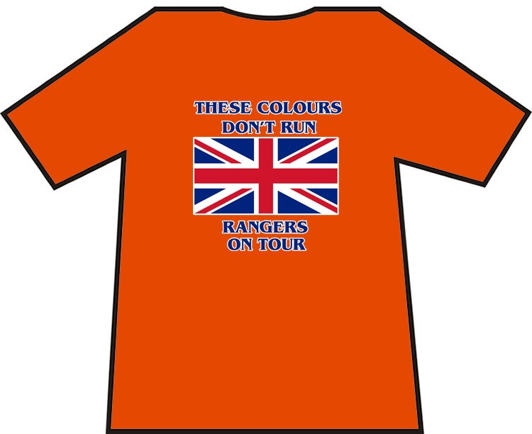 These Colours Don't Run Rangers On Tour T-shirts.