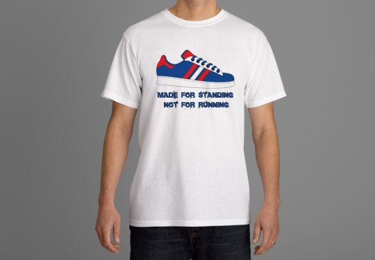 Image of Red,White & Blue Made for standing not running t-shirt.