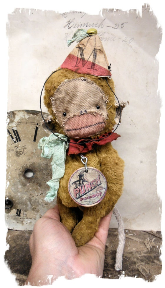 "Image of PUNCH * 8"" Vintage Style MONKEY * ToY MUNKI * By Whendi's Bears"