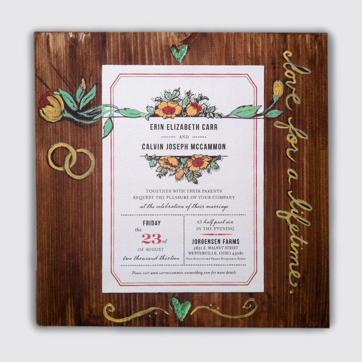 Image of custom photo, invite or announcement art