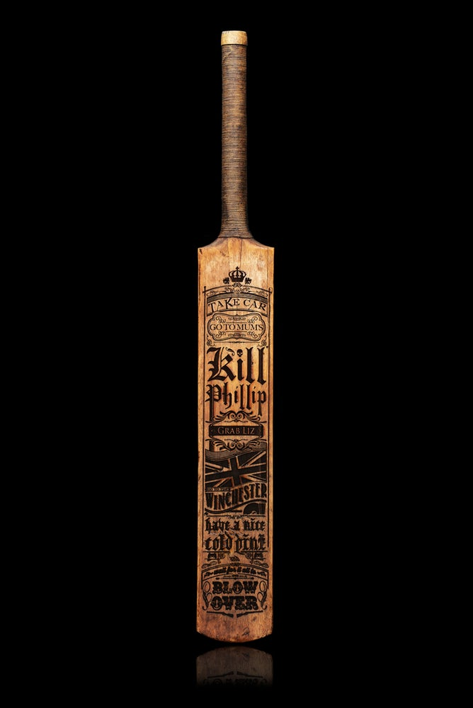 Image of Don't Say the Zed Word Cricket Bat