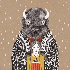 "Image de Carte postale ""Bison"""