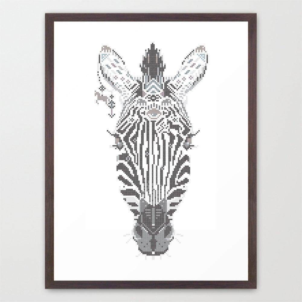 Image of Zebra wild cross / poster A3