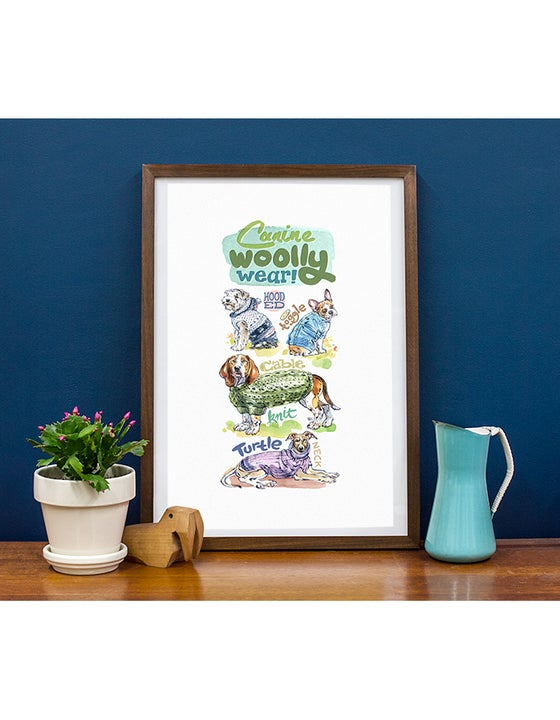 Image of Canine Woolly Wear - Giclée Print