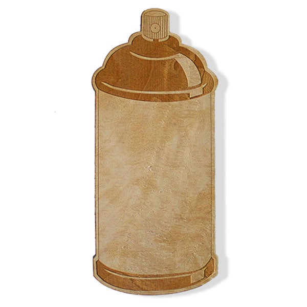 Image of WOODEN SPRAY CAN