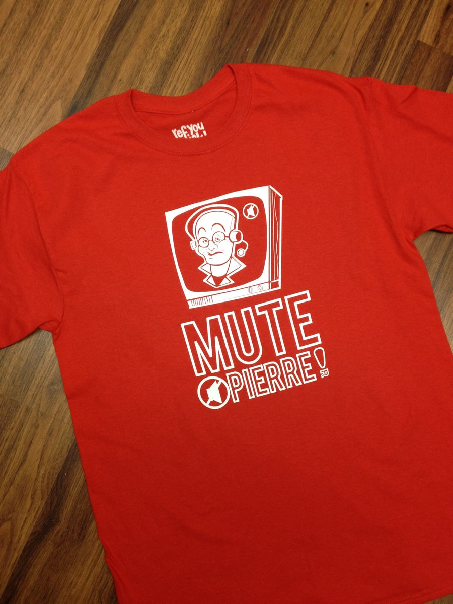 Image of MUTE PIERRE! (MCGUIRE) T-shirt black/red
