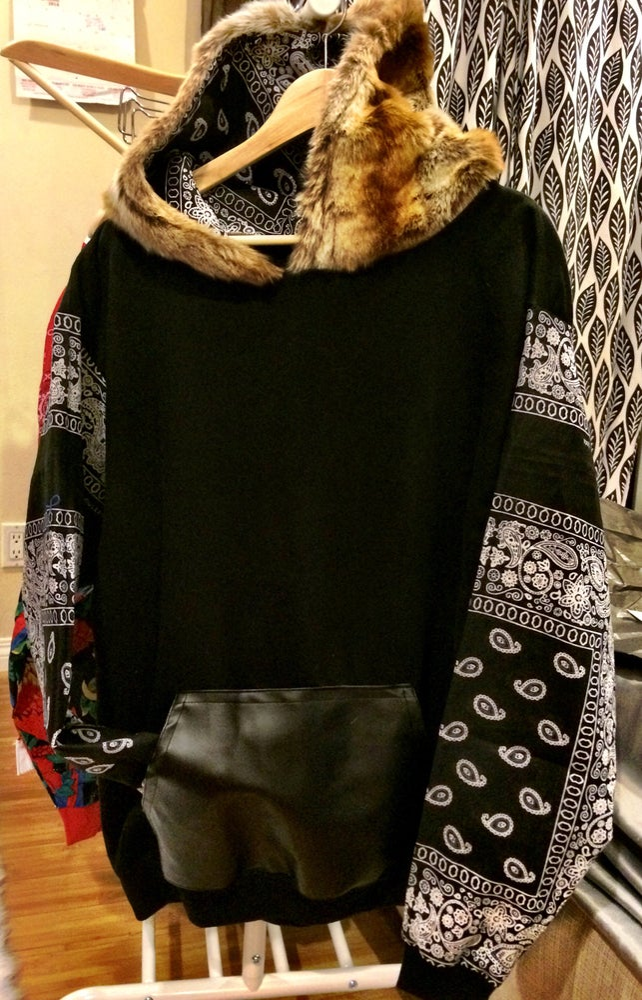Image of PapaBear Bandana Fur hoodHoodie
