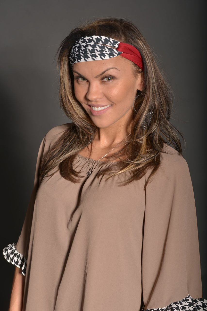 Image of HOUNDSTOOTH HEADBAND