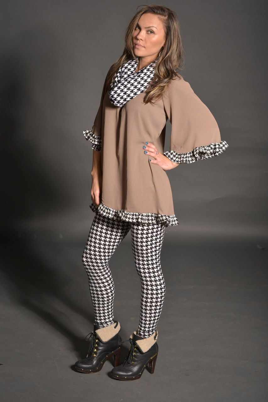 Image of houndstooth  leggings