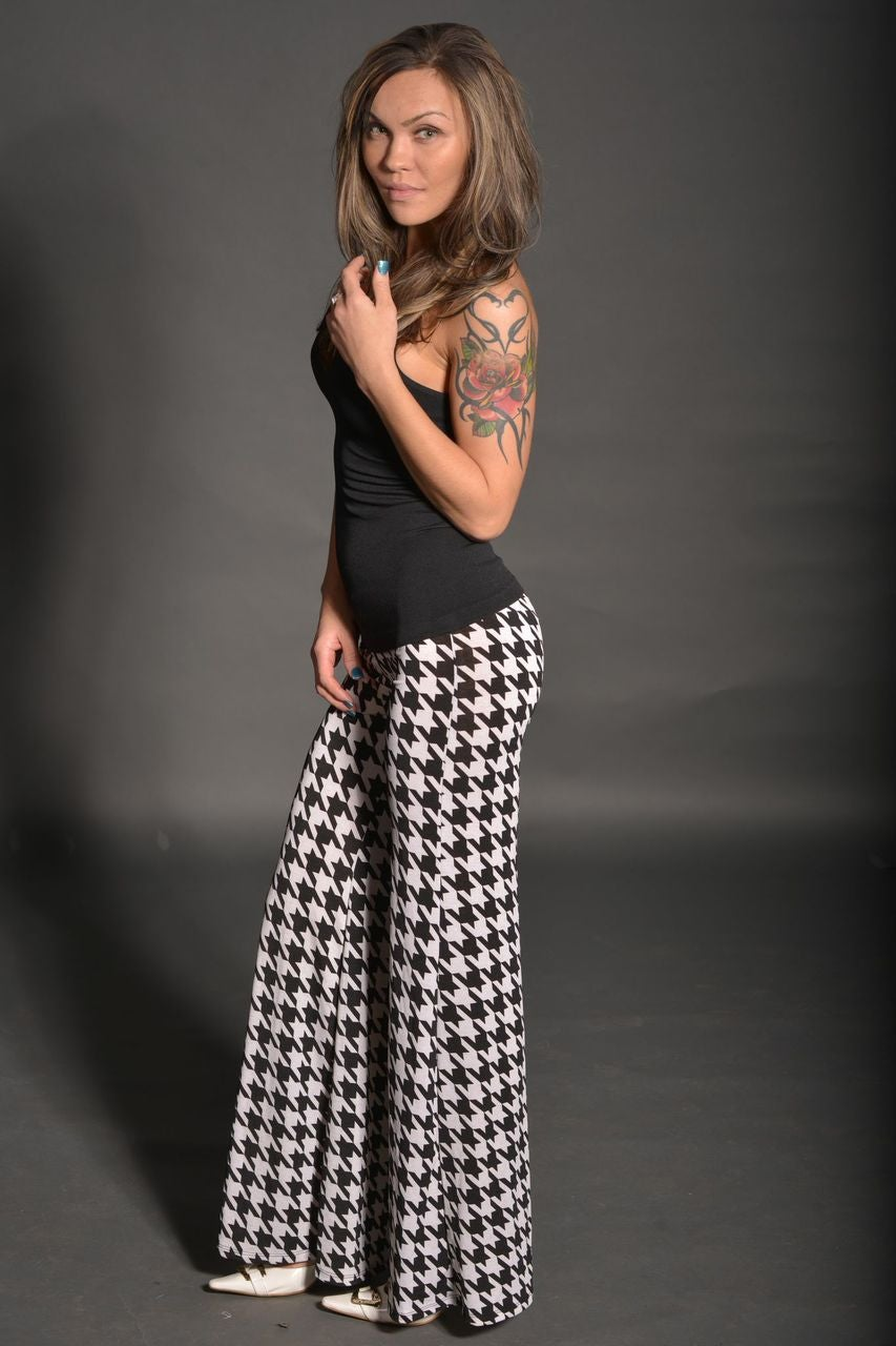 Image of HOUNDSTOOTH PALAZZO PRETTY $28.00
