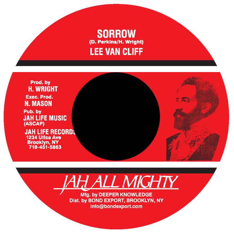 "Image of Lee Van Cliff - Sorrow 7"" (Jah All Mighty)"