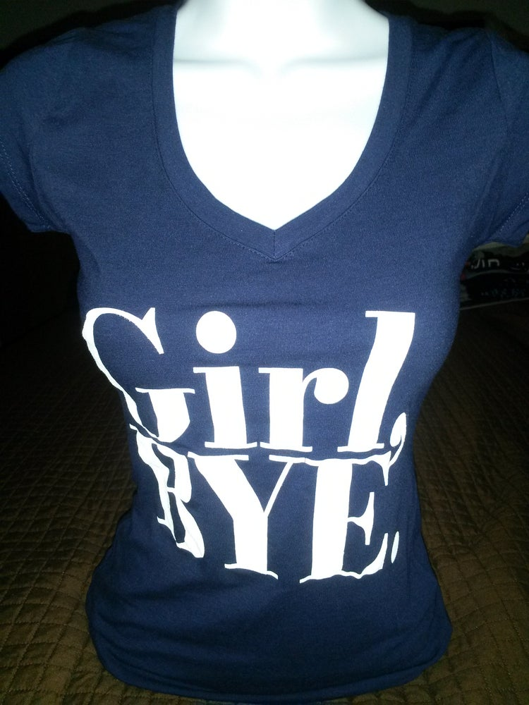 Image of Girl Bye Tee Shortsleeve Navy Blue