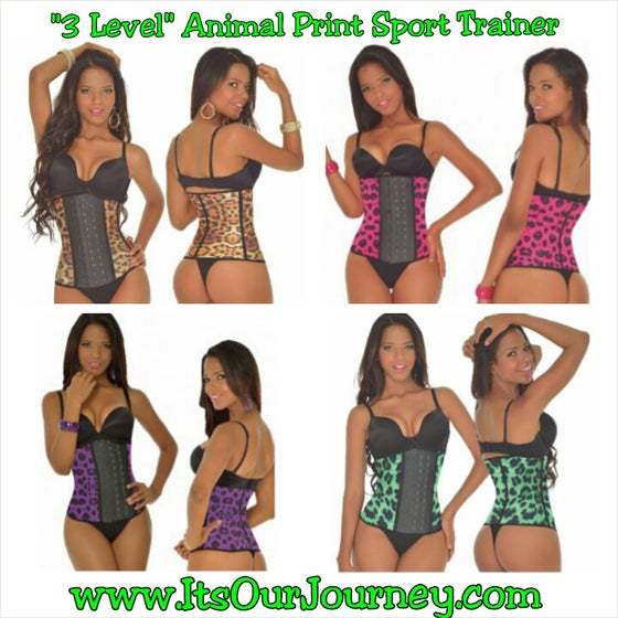 "Image of ""3 Level"" Animal Print Sport Trainer"