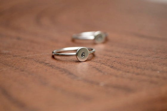 Image of Initial Ring - Stacking Ring - Lower Case
