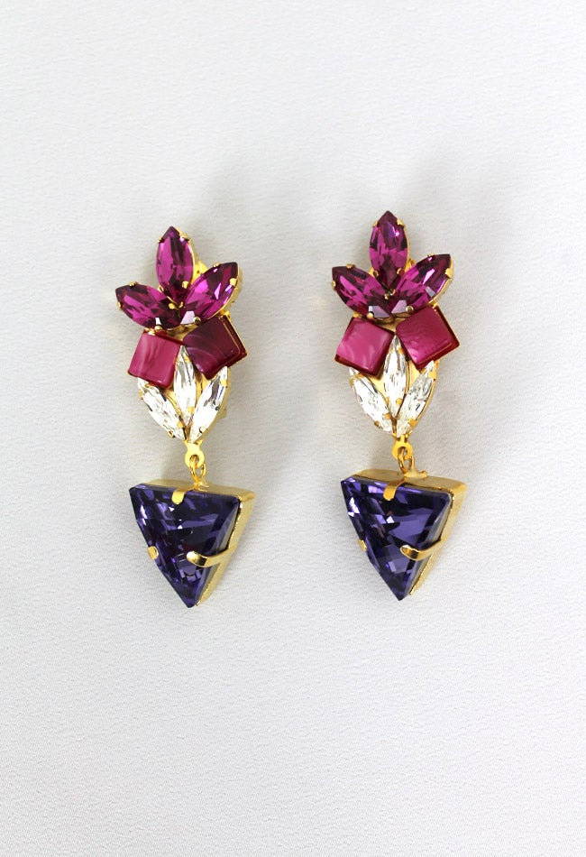 Image of JEWEL TRIANGLE EARRING