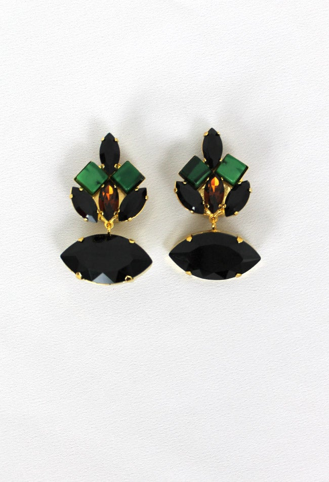 Image of BLACK EARRING