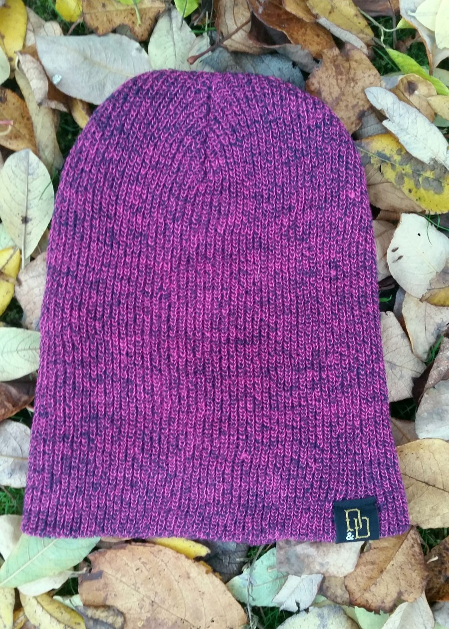Image of Fuscha Pink Heritage Beanie Hat