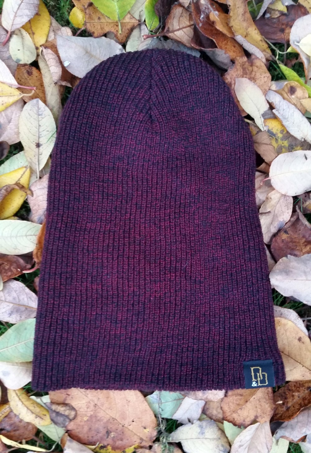 Image of Burgundy Heritage Slouch Beanie Hat