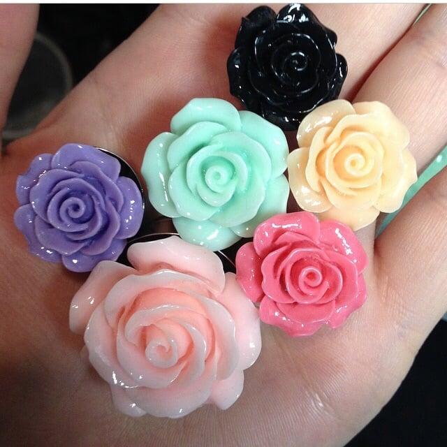 """Image of Rose Plugs (sizes 0g-1 1/2"""")"""