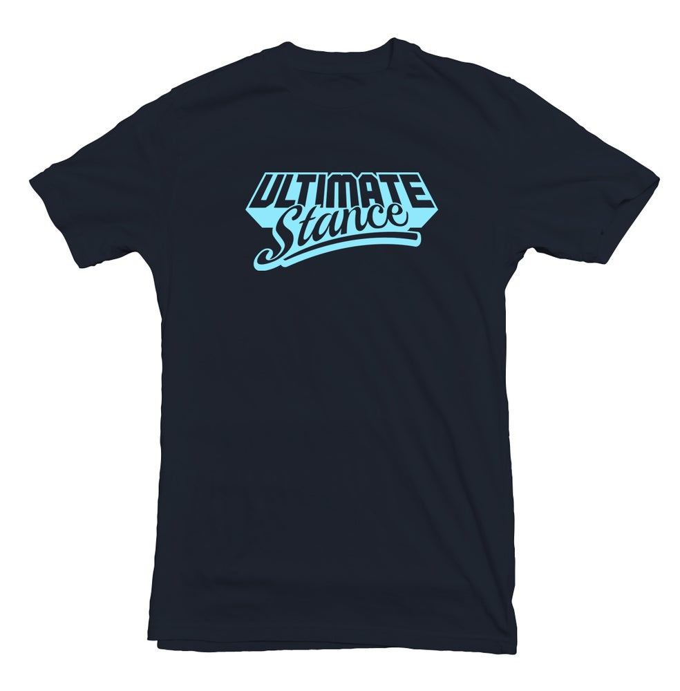 Image of Men's Ultimate Stance T-Shirt - Navy with Pale Blue Logo