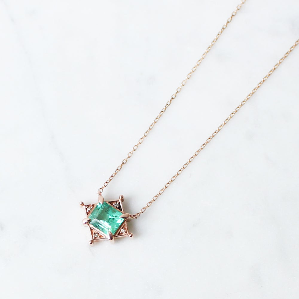 Image of Art Deco Green Emerald Necklace
