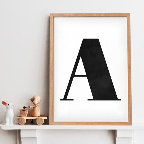 Image of Bold Letter giclee print (A - Z)