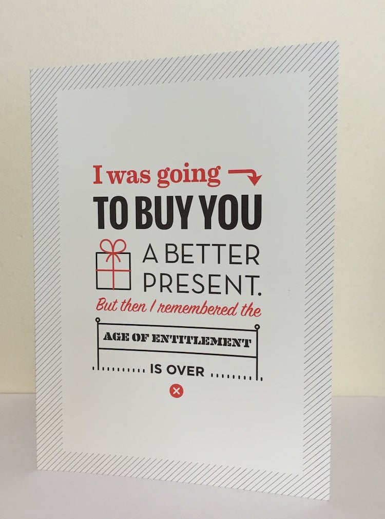 Image of Age of Entitlement Greeting Card