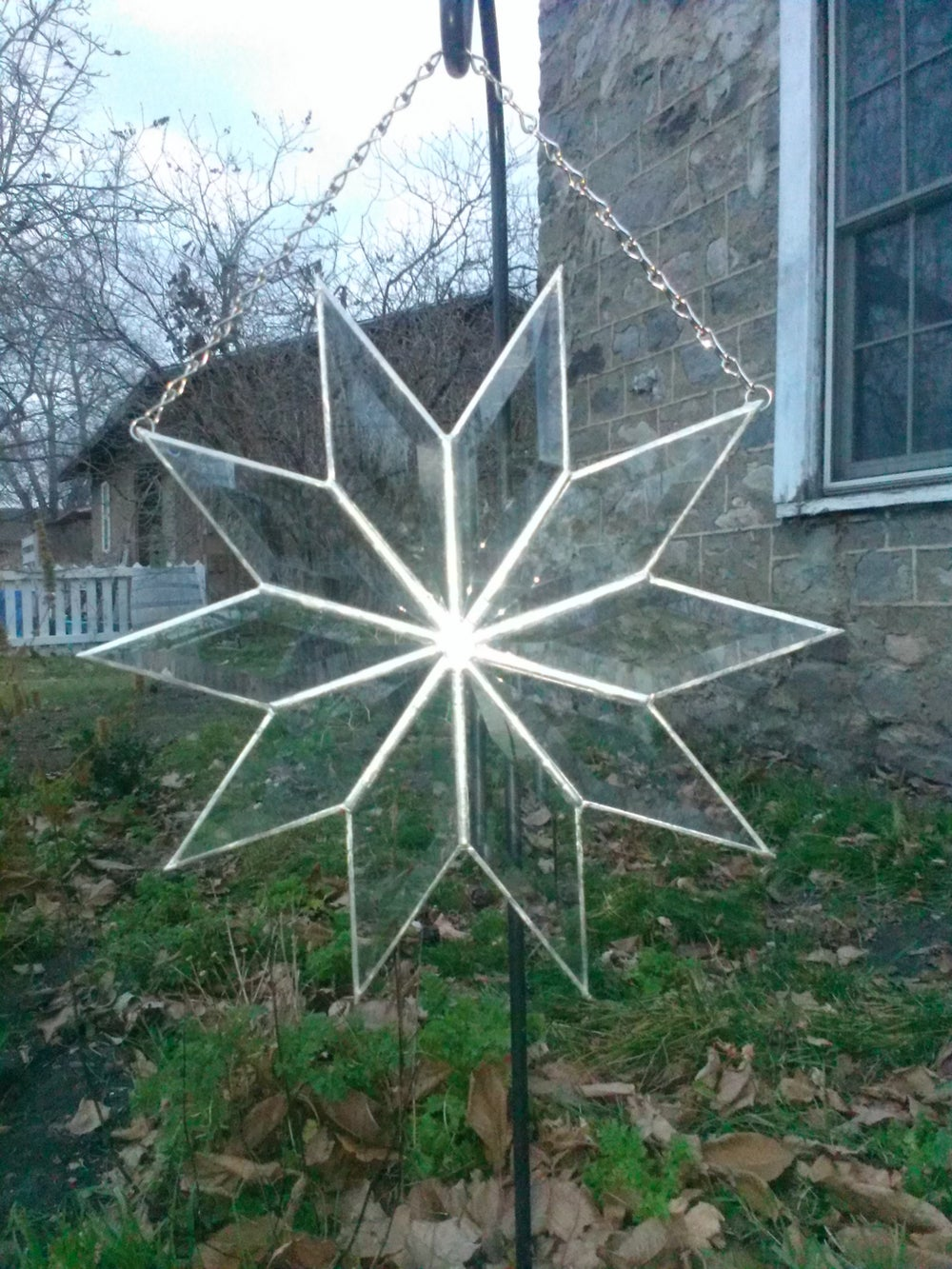 Image of Beveled Starburst-stained glass