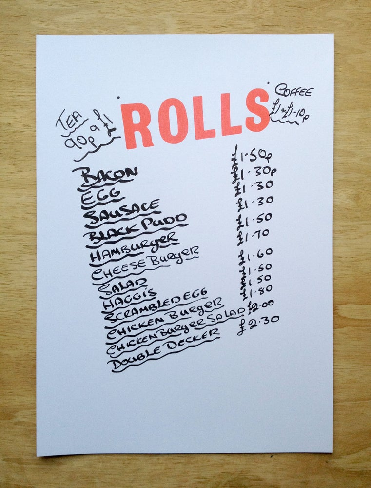 Image of Rolls (A3 Riso Print)
