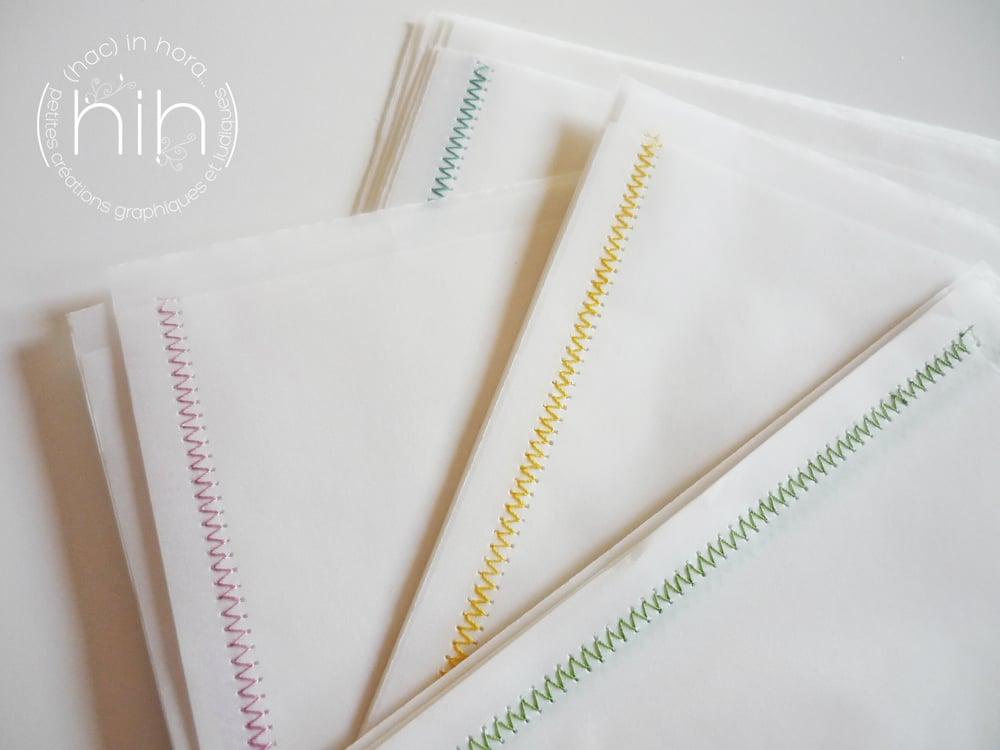 Image of 6 sachets translucides ∑zigzag∑ taille M