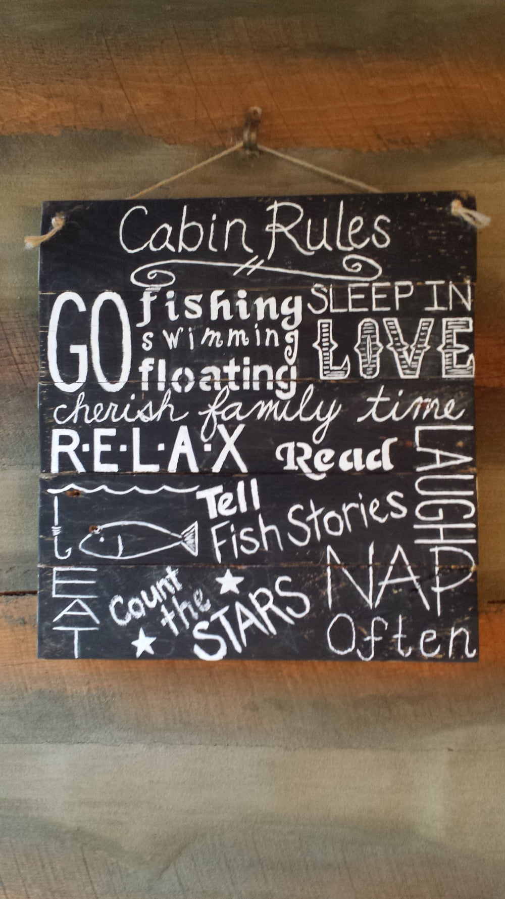 Image of Cabin Rules Sign