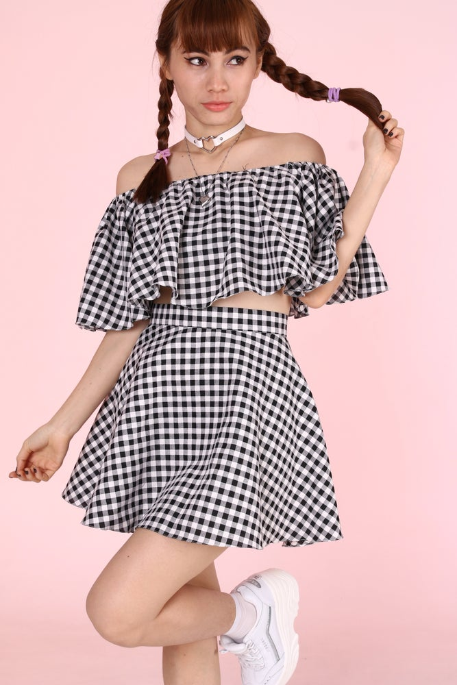 Image of Made To Order - Lolita Black & White Gingham Set
